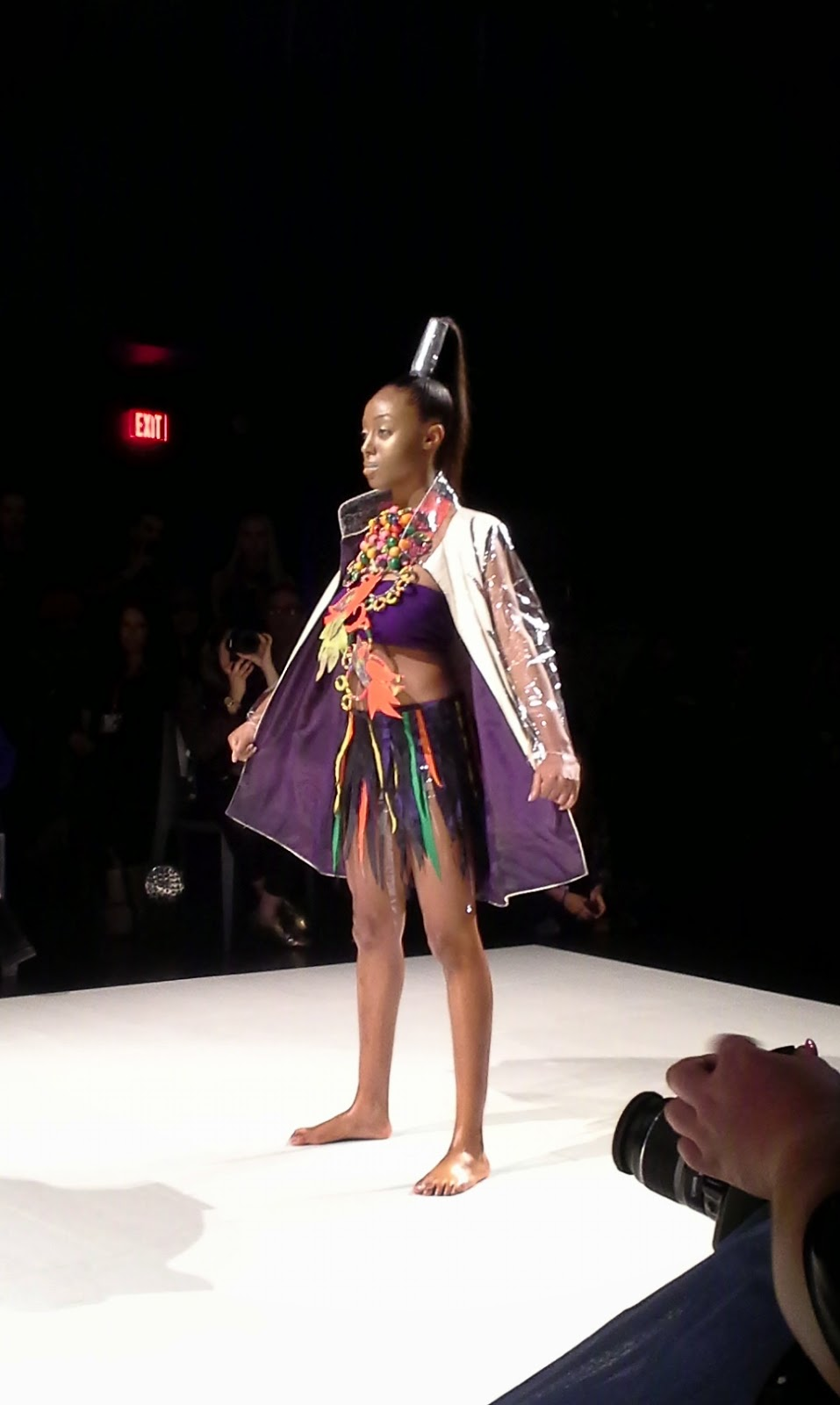 HASTI Collection Fashion Art Toronto [FAT] Fashion Week 2014 Style Show Melanie.Ps Canadian Designers The Purple Scarf Runway Art