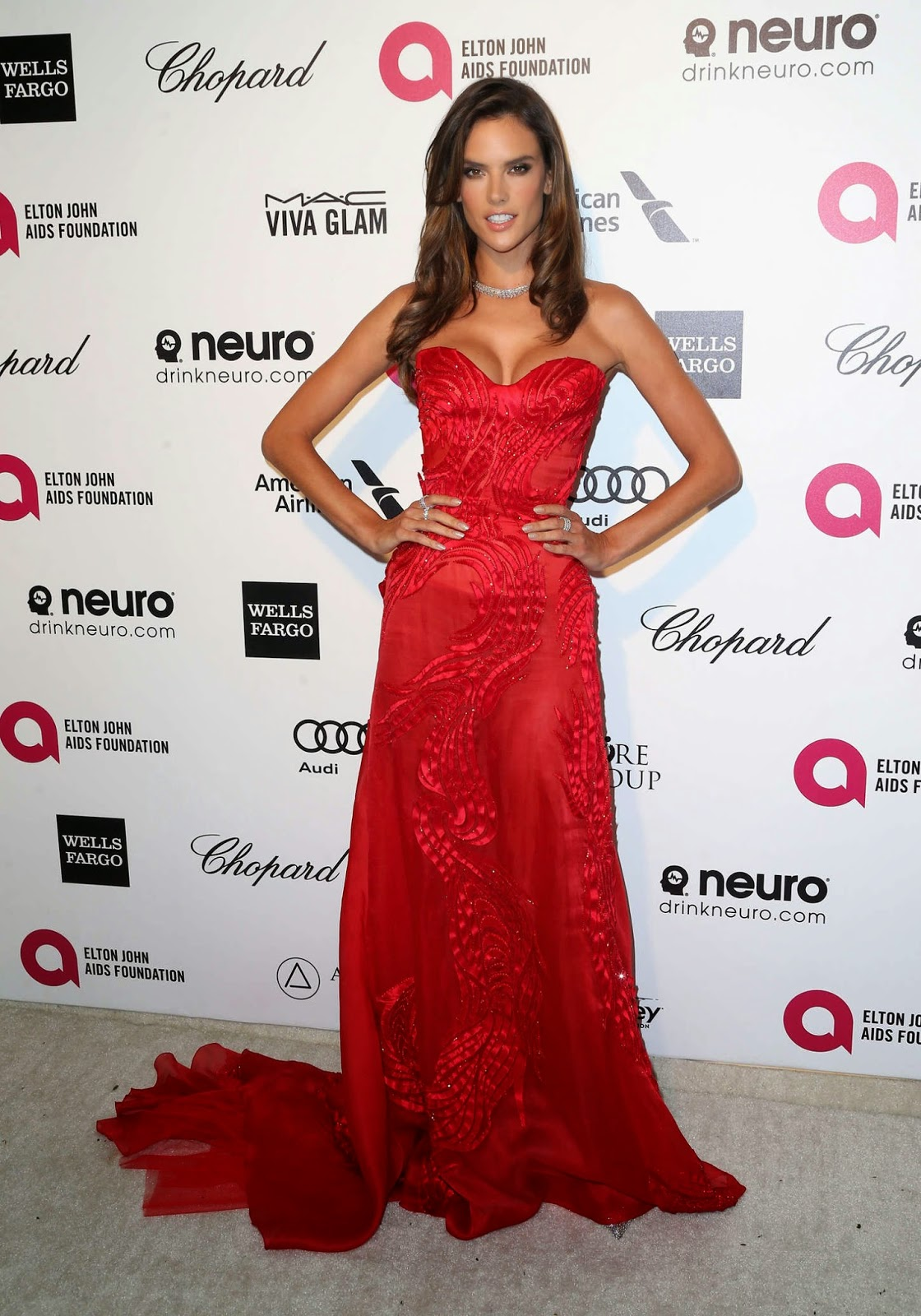 Alessandra Ambrosio – 23rd Annual Elton John AIDS Foundation Academy Awards Viewing Party in LA