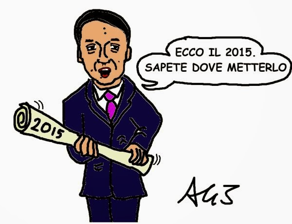 Renzi, 2015, satira, vignetta