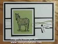 Card made with Stampin'UP! stamp set called Zoo Review.