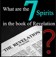 graphic (c)Erika Grey What are the 7 spirits in the book of Revelation, featuring the title over an open Bible open to the book of Revelation