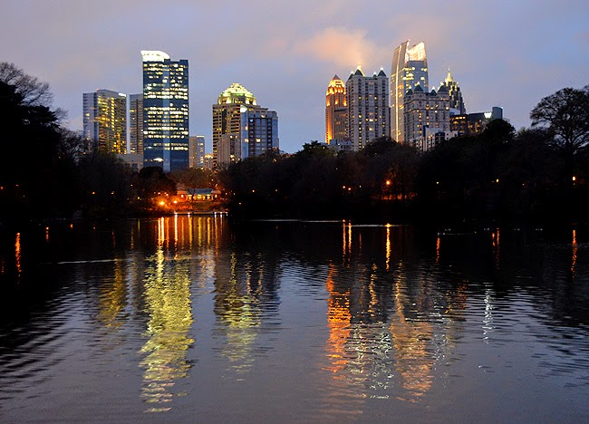 Atlanta, Midtown Skyline as seen from Piedmont Park