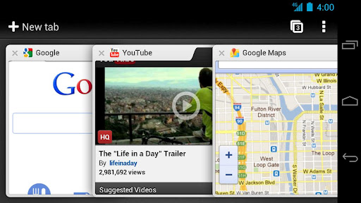 New Google Chrome Browser for Android New Feature Added