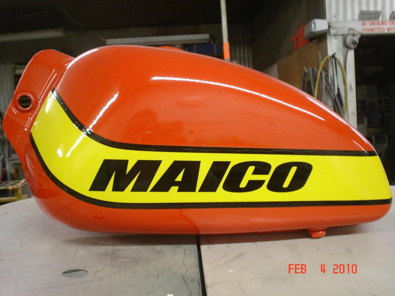78 79 Maico Tank Painted As Original