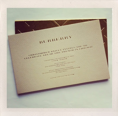 Burberry Art of the Trench invite
