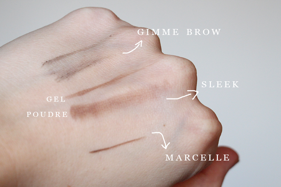 swatch gimme brow benefit medium dark brow kit sleek makeup accent crayon sourcils marcelle