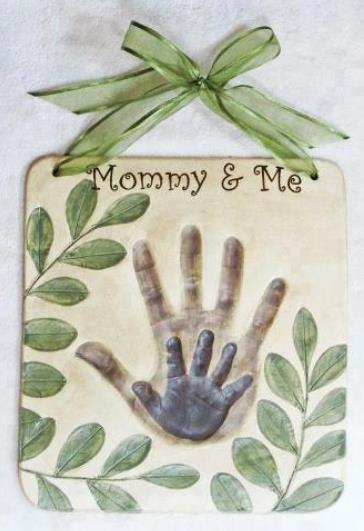 Beautiful hand art craft for mother and baby, mom and toddler, or Mother's Day gift from Dad