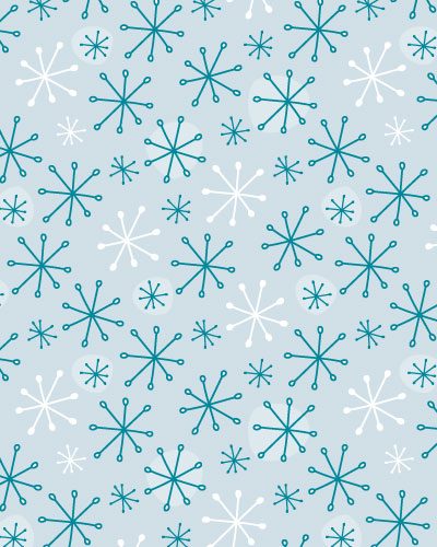 Here's a simple snowflake pattern inspired by the chilly weather!