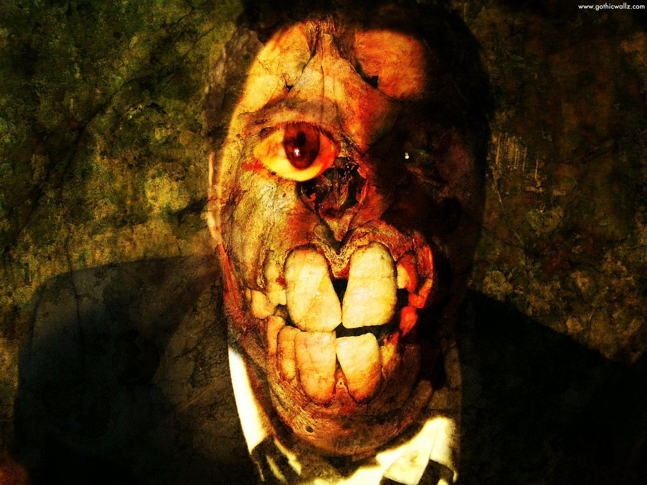 Extreme Creepy Face | Dark Gothic Wallpaper Download