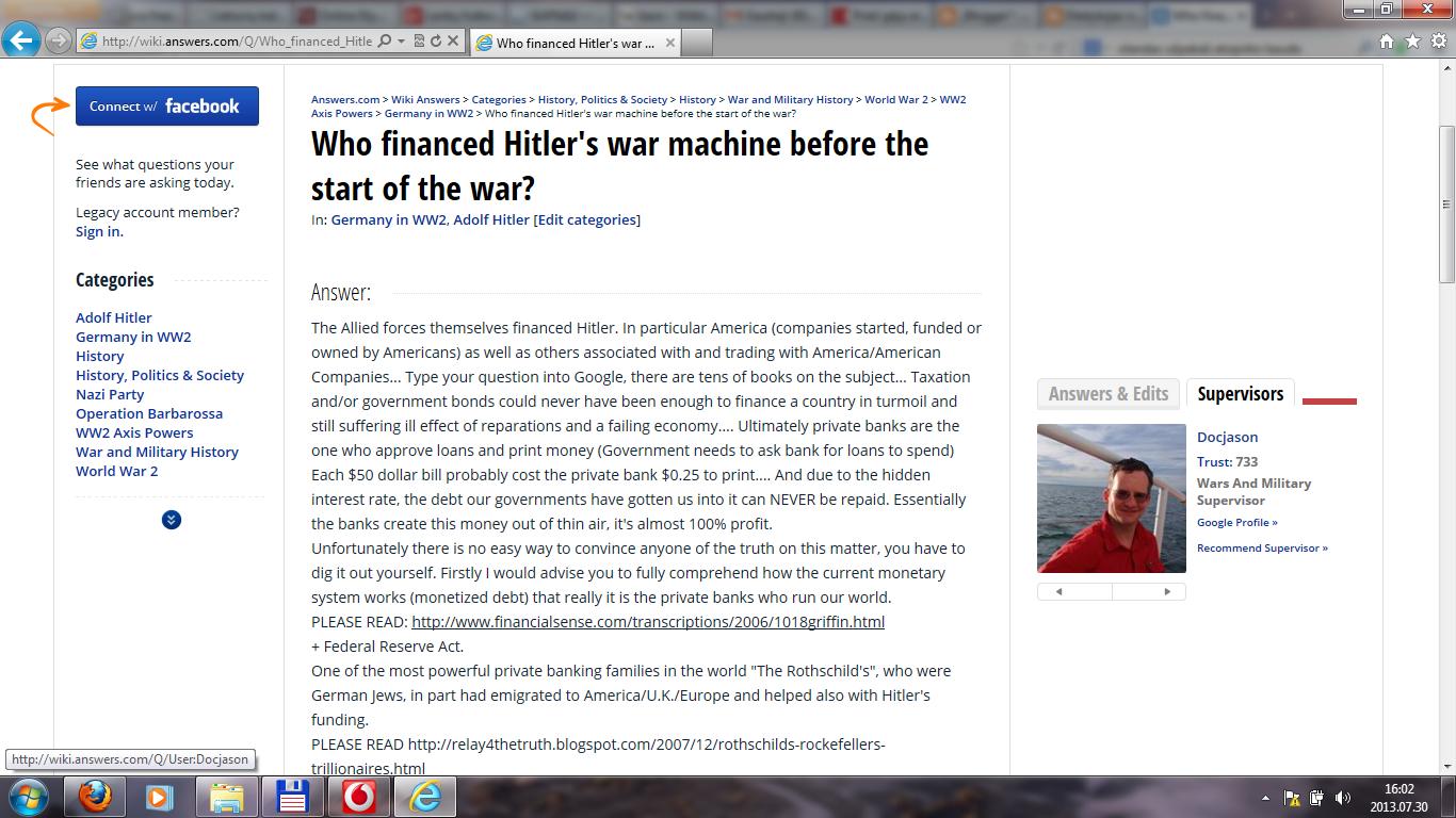 who financed s war machine