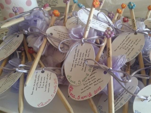 Preferenza La Bottega di Lilliput: Bomboniere con matite per Battesimo WC92