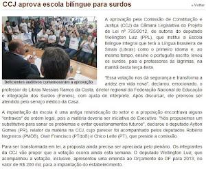 CCJ aprova escola bilíngue para surdos