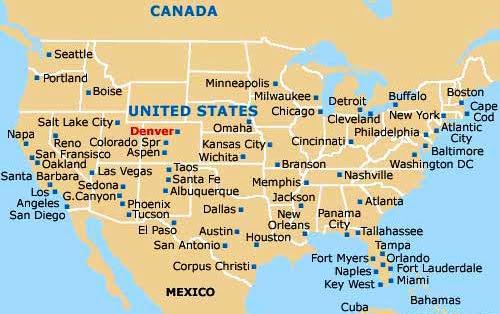Mapa Estados Unidos De América - Mapa de colorado usa