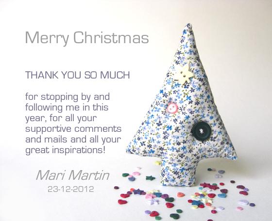 Merry Christmas 2012 Mari Martin