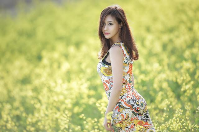 3 Kim Ha Yul Lovely Outdoor - very cute asian girl - girlcute4u.blogspot.com