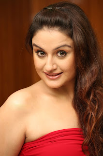 Sonia Agarwal Cute Pictures in Red Gown Lovely Pics