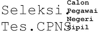 tes seleksi CPNS tahun 2013