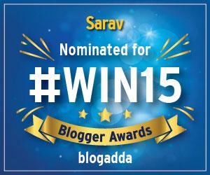 Nominated for Win 15 BlogAdda Blog Awards