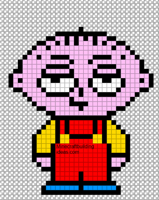 Minecraft Pixel Art Templates Stewie Griffin