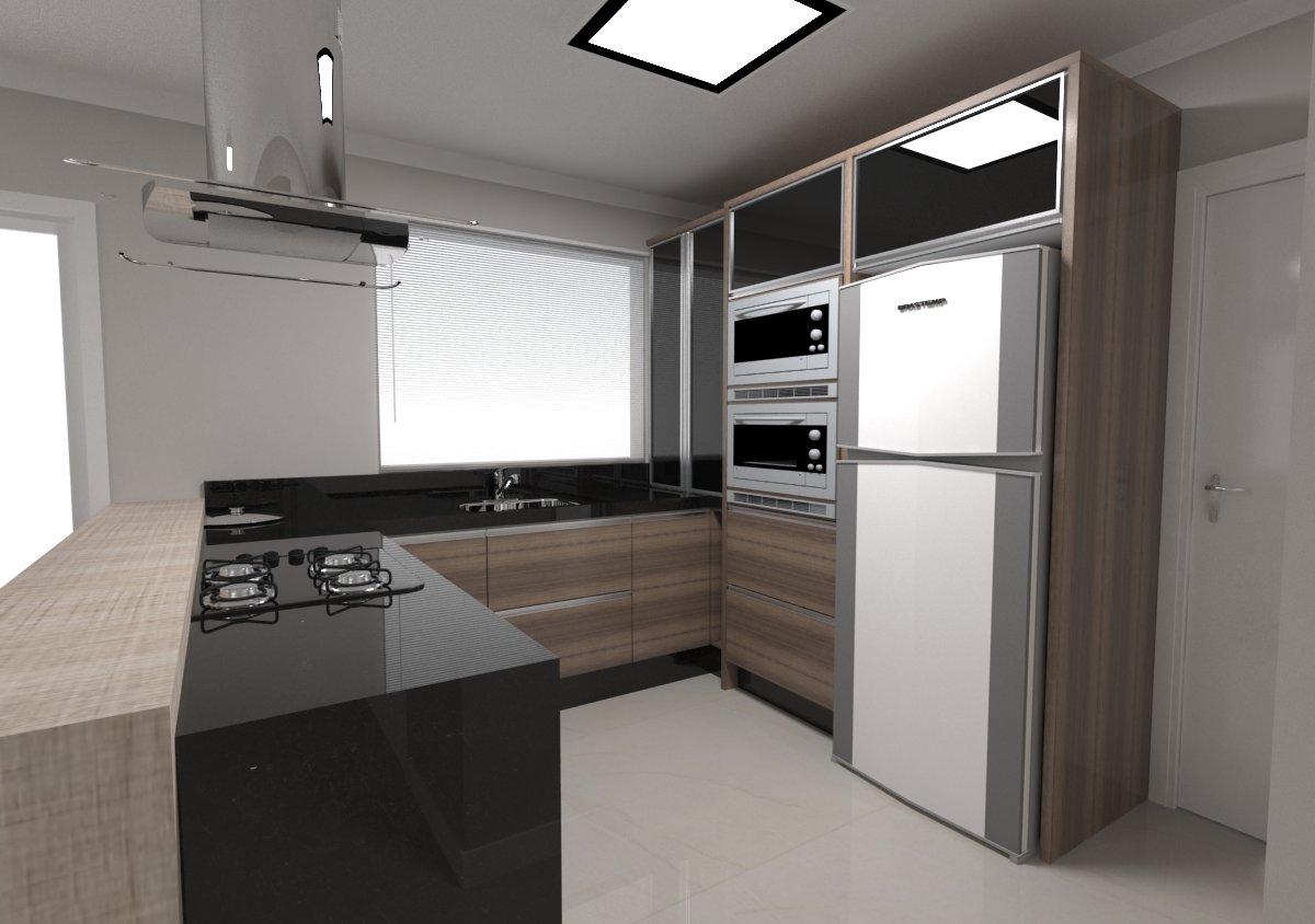 cozinha em u mais cozinha em u decoração cozinha cozinhas estilosas  #5B4E46 1200 844