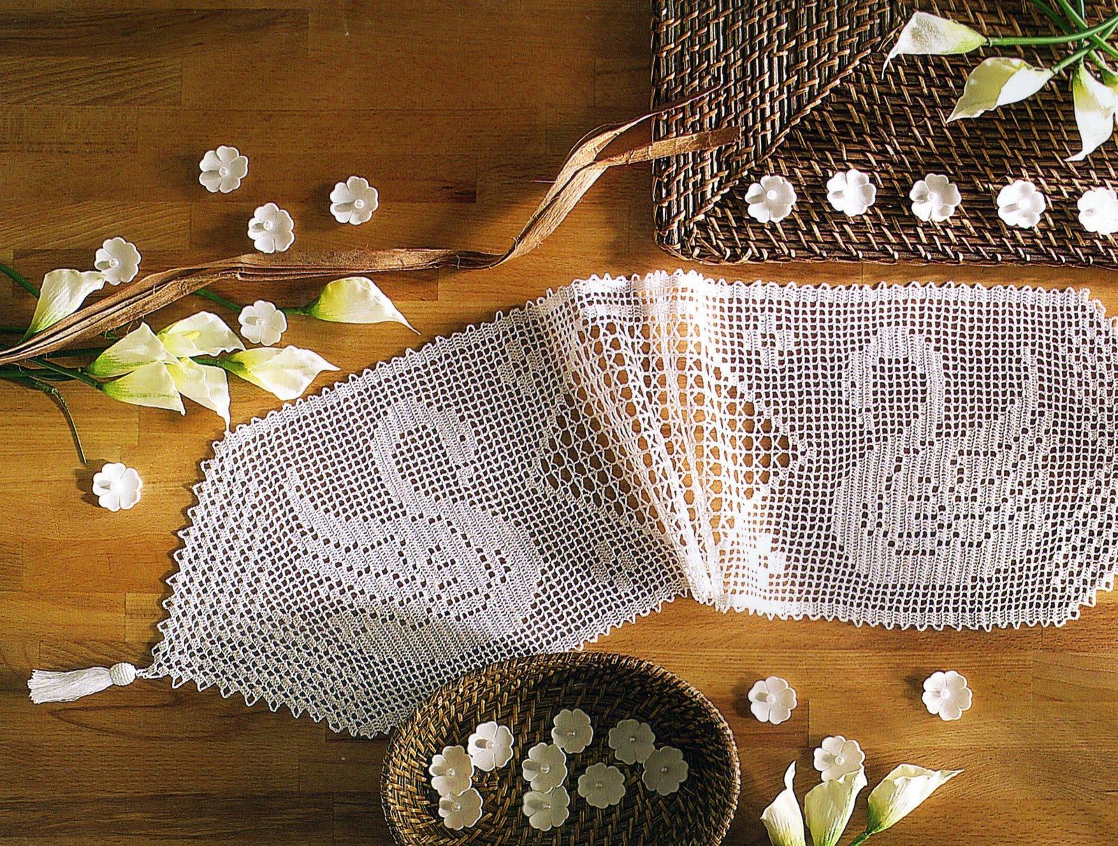 Tejidos artesanales en crochet galeria de imagenes - Camino de mesa elegante en crochet ...