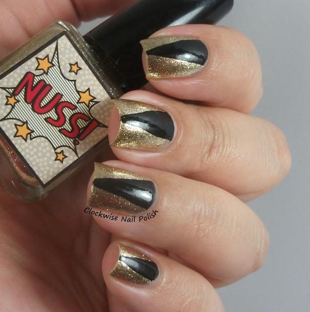 New Years Nail Polish: The Clockwise Nail Polish: Esmalteria Da KK Nuss! & New