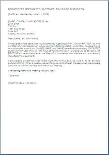 Customer Meeting Follow Up Letter