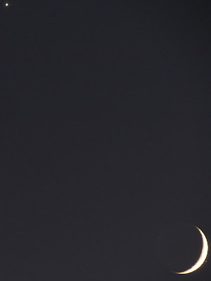 Venus  (top) The moon and Spica