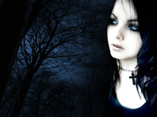 Dark Girl With Trees In The Background Dark Gothic Wallpaper