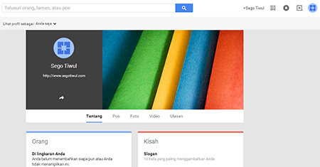 Membuat Google Fans Page Google+ 5