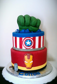 Birthday Cake Oreos on Avengers Birthday Cake Iron Man Cake Hulk Fist Cake