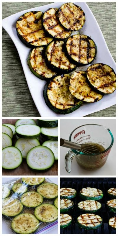 How to Grill Perfect Zucchini from KalynsKitchen.com