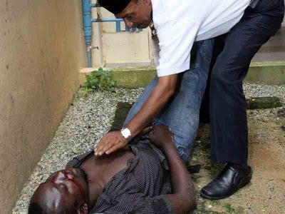 Warga Afrika cedera parah terjatuh dari tingkat tiga