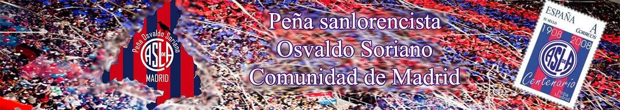 Peña Sanlorencista Osvaldo Soriano de la Comunidad de Madrid