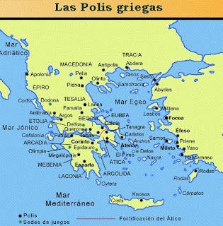 """Los primeros pueblos griegos tuvieron una organización política muy rudimentaria. Los aqueos y los dorios llegaron a la península Balcánica formando grupos nómadas que se sedentarizaron y progresaron.  Esta evolución hizo que los primitivos """"genos"""""""