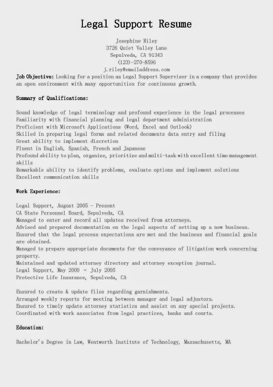 Legal Resume Format paralegal cover letter example clparalegal legal paralegal cover lawyer resume format experienced attorney resume template law resume format best lawyer Com Legal Resume Format