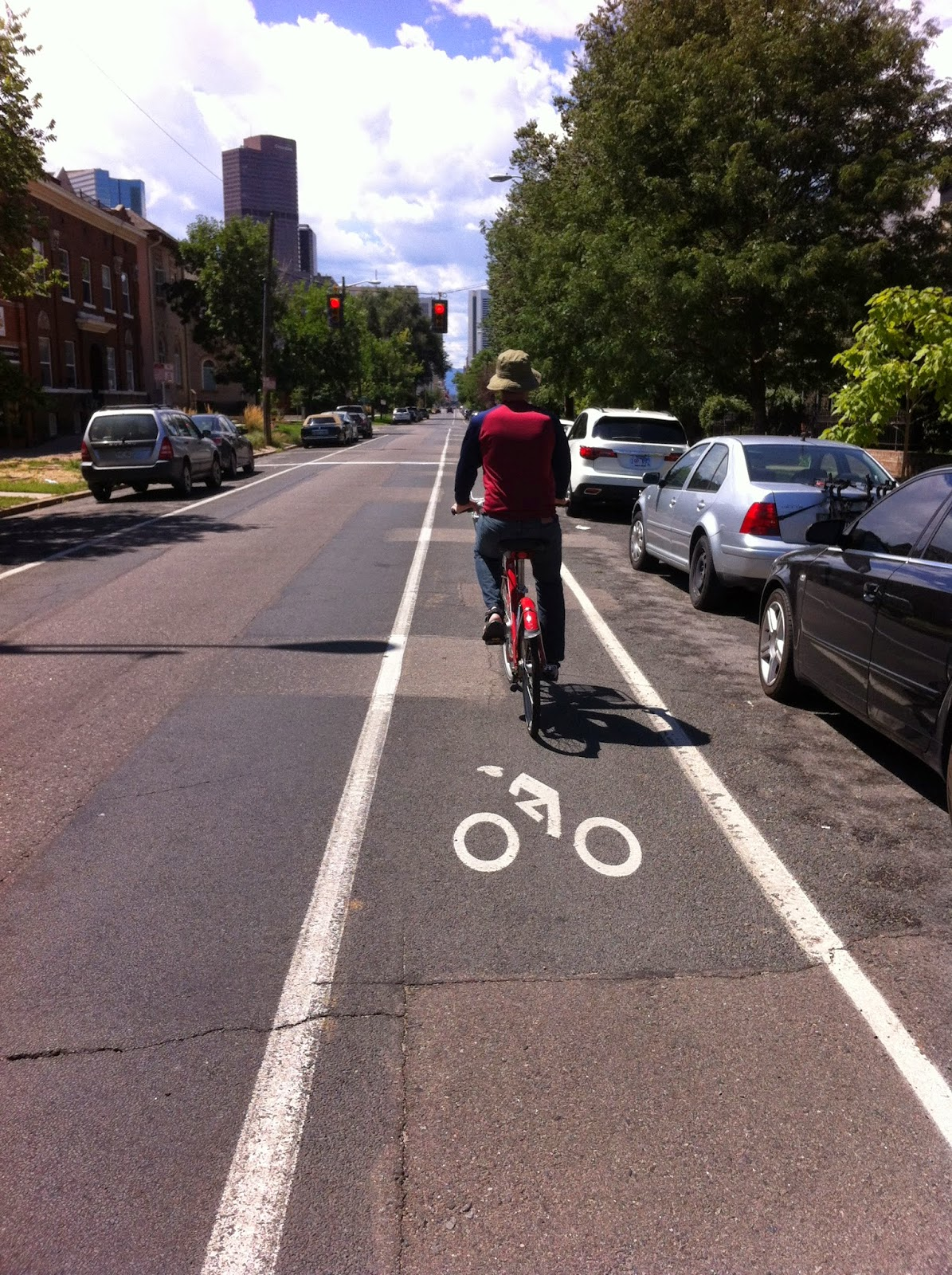 Champa St bike lane