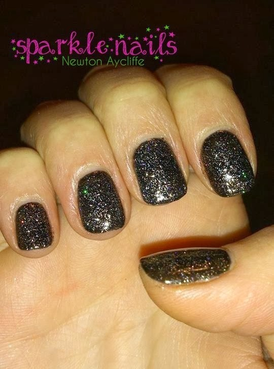 Tales From Sparkle Nails Black Sparkly Gel Nails