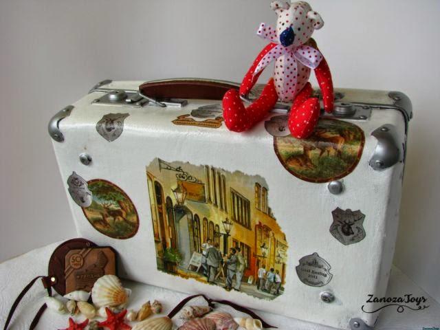 Старый чемодан реставрация мастер класс 2