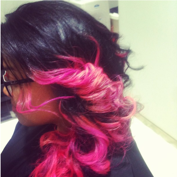 pink hair dubai