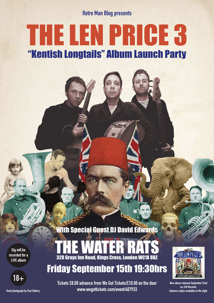 Retro Man Blog Presents: The Len Price 3 New LP Launch Party September 15th