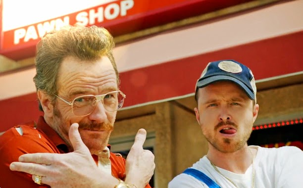 Bryan Cranston and Aaron Paul back together with Old new christine Seinfield