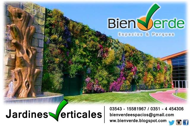Bien verde espacios parques c sped parquizaciones for Riego de jardines verticales
