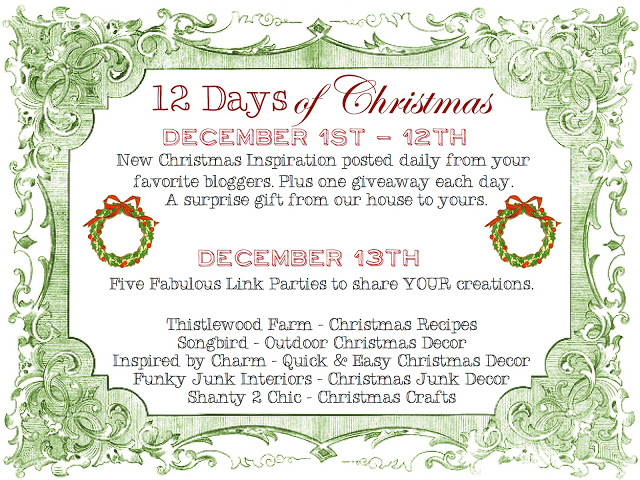 12 Days of Christmas, a Christmas junk link party via Funky Junk Interiors
