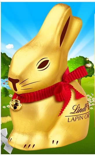 30 Lapins Or Lindt en chocolat