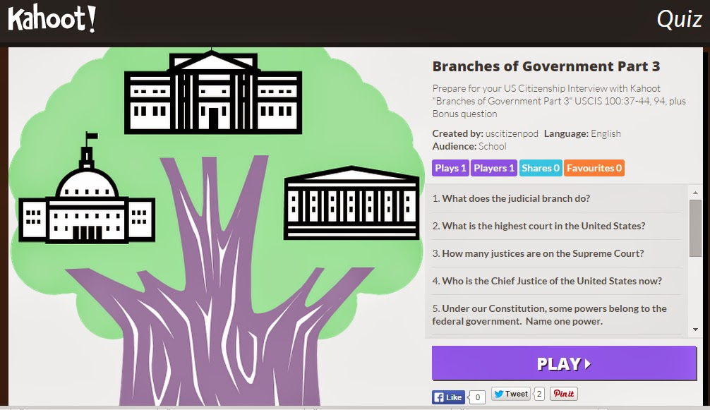 branches of government paper