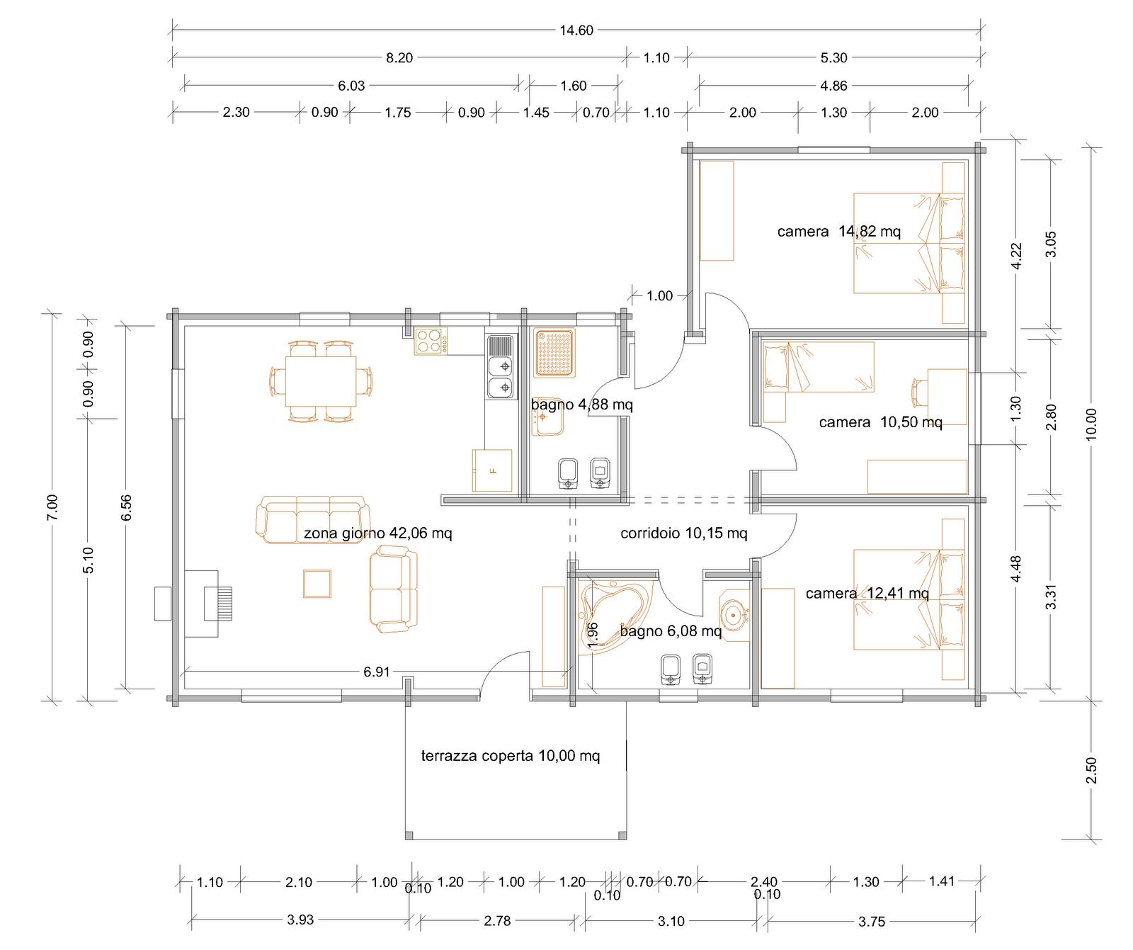 Progetti di case in legno: DOINA 118 T10