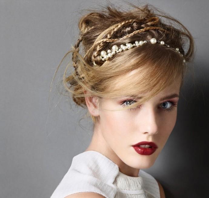 Peinados elegantes y sencillos elaborados con tiaras y o diademas - Peinados faciles y elegantes ...