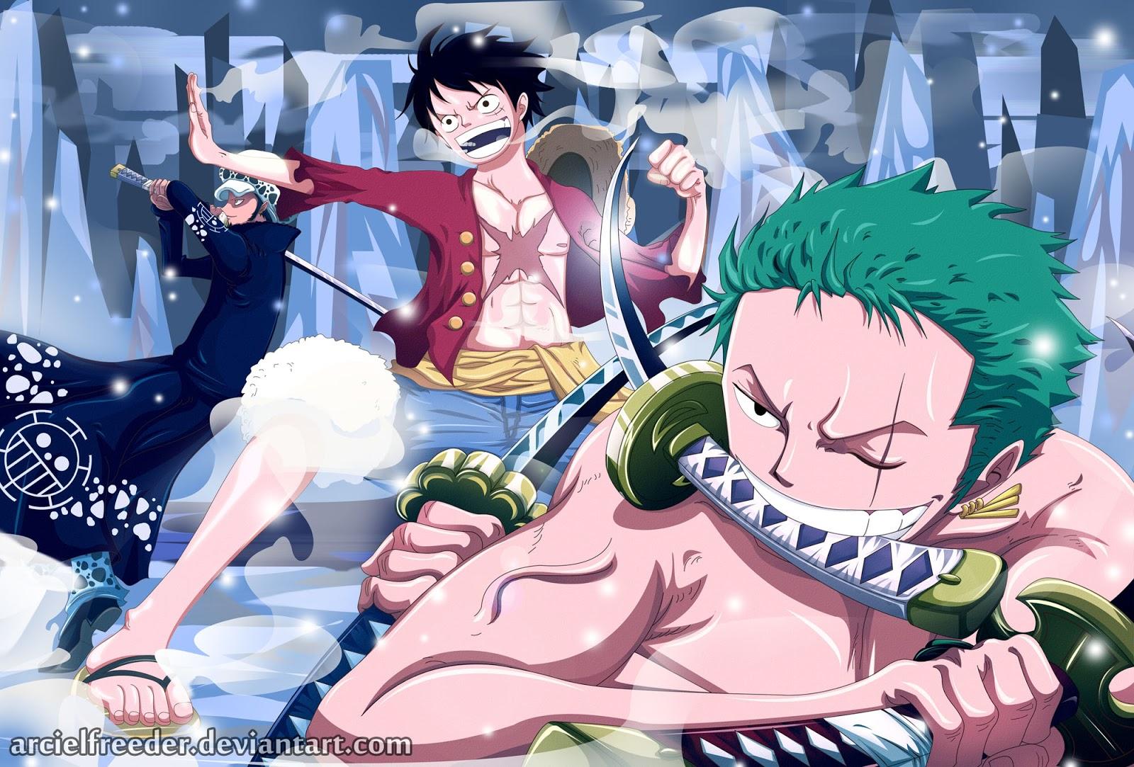 One Piece Roronoa Zoro  Monkey D Luffy  Trafalgar Law   Your daily