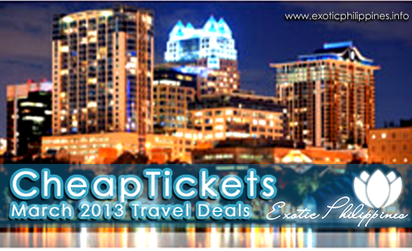 CheapTickets March 2013 Travel Deals